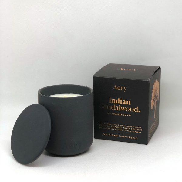 Aery Indian Sandalwood Scented Candle